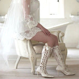 Sexy Lace Calf Bridal Boots - Limited Availability