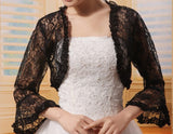 Lace Bridal Jacket with Bell Sleeves
