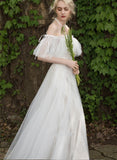 The Lily - Off Shoulder Tulle Wedding Dress