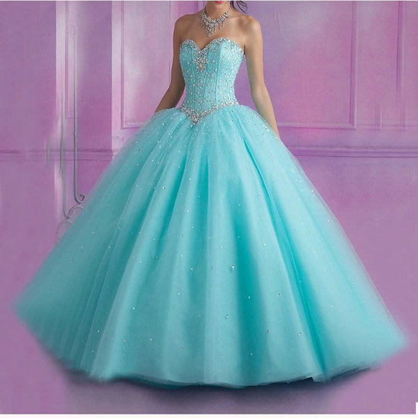 The Luciana :: Shimmering Tulle Corset Back Quinceanera Ball Gown