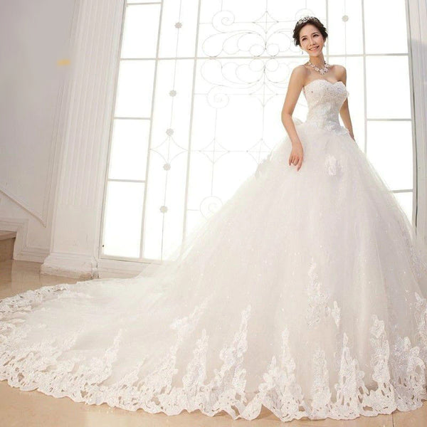 The Lucy - Hand Beaded Lace & Tulle Ball Gown