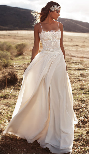 SAMPLE - Inspired by the Lurelly Mari Boho Beach Wedding Dress