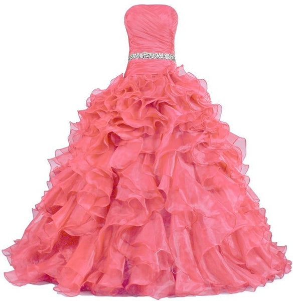 The Martina :: Ruffled Organza Quinceanera Ball Gown
