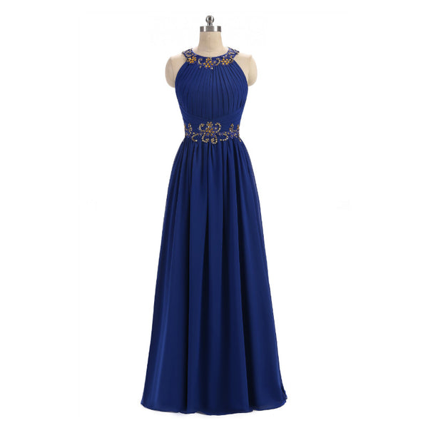 The Medusa Hand Beaded Grecian Style Evening Gown