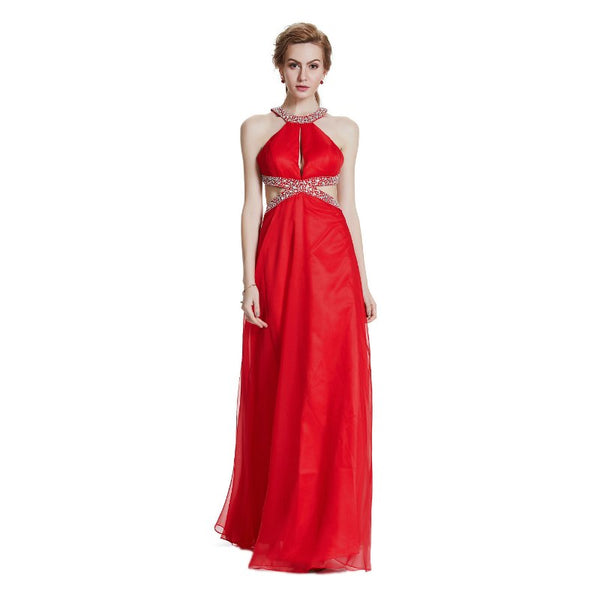 The Morraco Sexy Crisscross Back Hollow Out Evening Gown