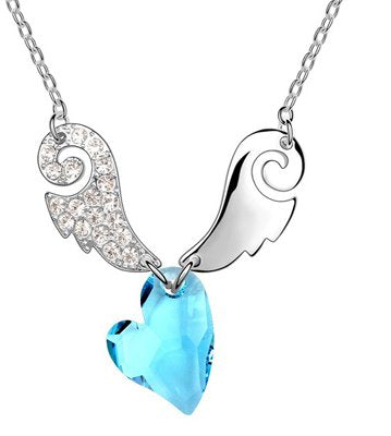 On Angels Wings Crystal Necklace – Available in 6 colors
