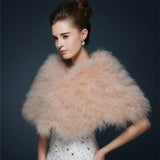 Ostrich Feather Bridal Wrap