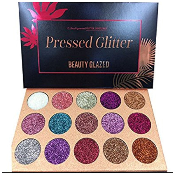 Dazzling Pressed Glitter Shadow 15 Color Collection