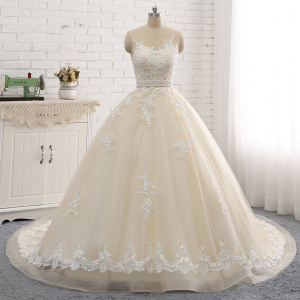 The Pearl Lace & Tulle Ball Gown - Avail. Up to size 28W