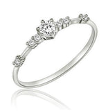 Petite CZ Engagement or Promise Ring - Available in 3 Colors
