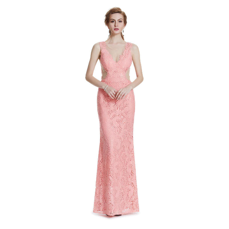 The Piper – Lace Hollow Out Spring/Summer Evening Gown