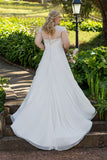 Plus Size Lace & Applique Wedding Dress - Available up to size 28 :: On Sale $100 Off w/ Free US Shipping!