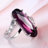 MM Oval Amethyst & Sterling Silver Ring
