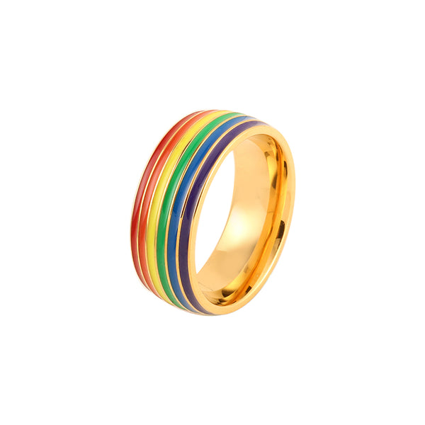 For Love & Pride – Womens Rainbow Wedding Band