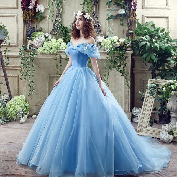 The Rella :: Butterfly Embellished Tulle Quinceanera Ball Gown