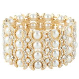 Row of Pearls Bridal Bracelet