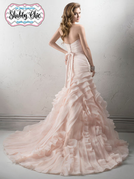 Shabby Chic Tucked Organza Gown