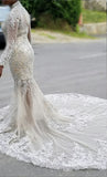 The Sheba - Luxury Illusion Hand Beaded Mermaid Gown