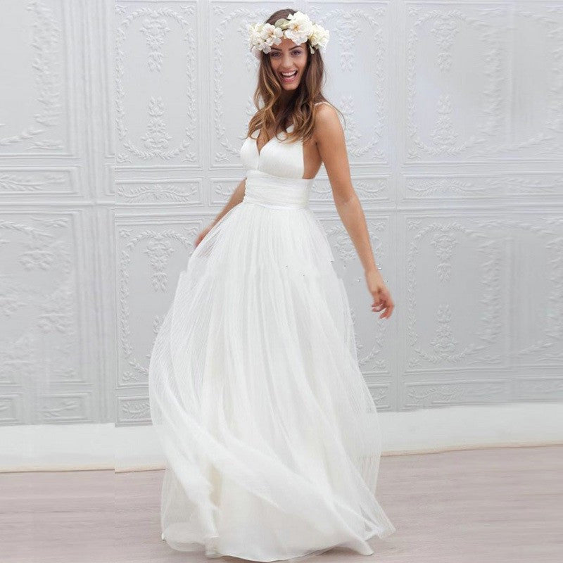 Inspired by the Marie LaPorte Iris Beach Wedding Gown – Avail up to size 18W
