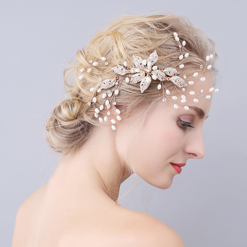 Spray of Pearls – Bridal Hair Combs