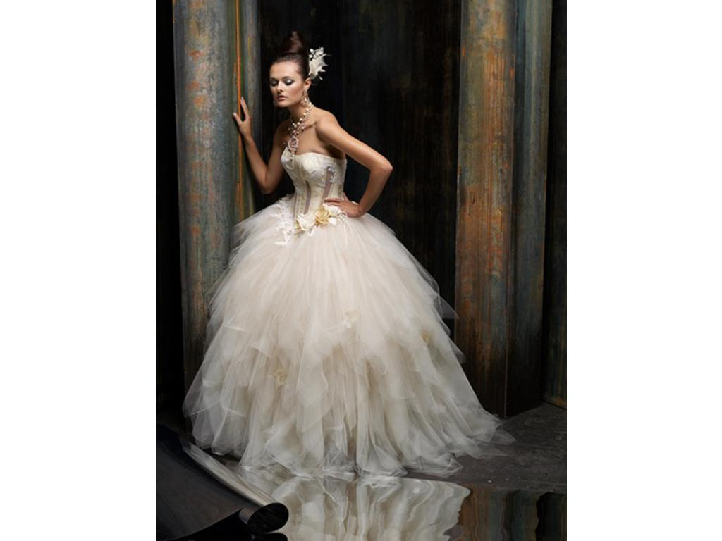 Inspired by the St. Pucchi Isla Z256 Wedding Dress