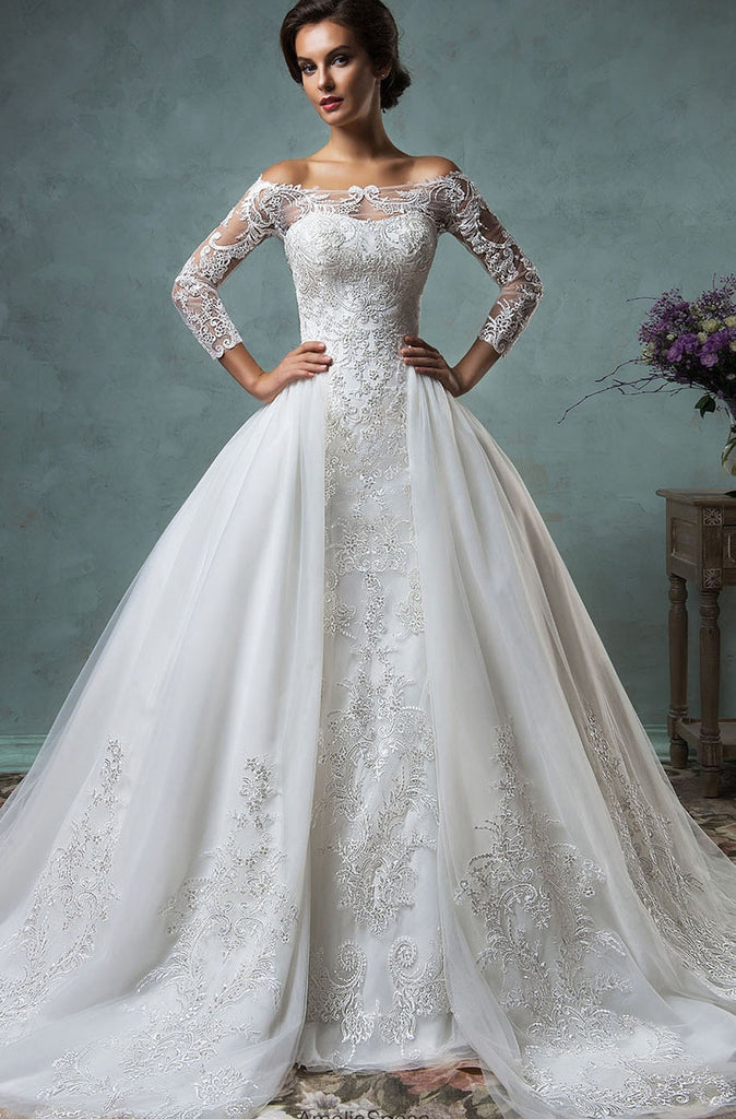 SAMPLE - Inspired by the Amelia Sposa Celeste 2-Piece Gown