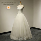 Vintage Hand Beaded Sweetheart A-Line Wedding Gown