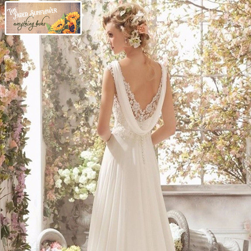 Vintage Lace & Back Scoop Wedding Gown – Plus Size up to 22W