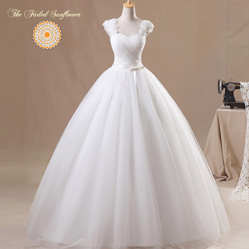 Vintage Rosebud Princess Wedding Gown Plus Size Up To 24 W The