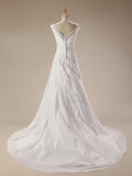 Vintage Beaded Taffeta Wedding Gown  Plus Size up to 26W
