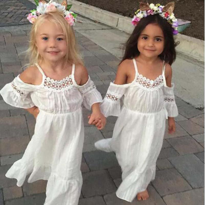 Boho Baby Crochet Hollow Out Dress