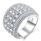 AAA CZ Wide Bridal Band