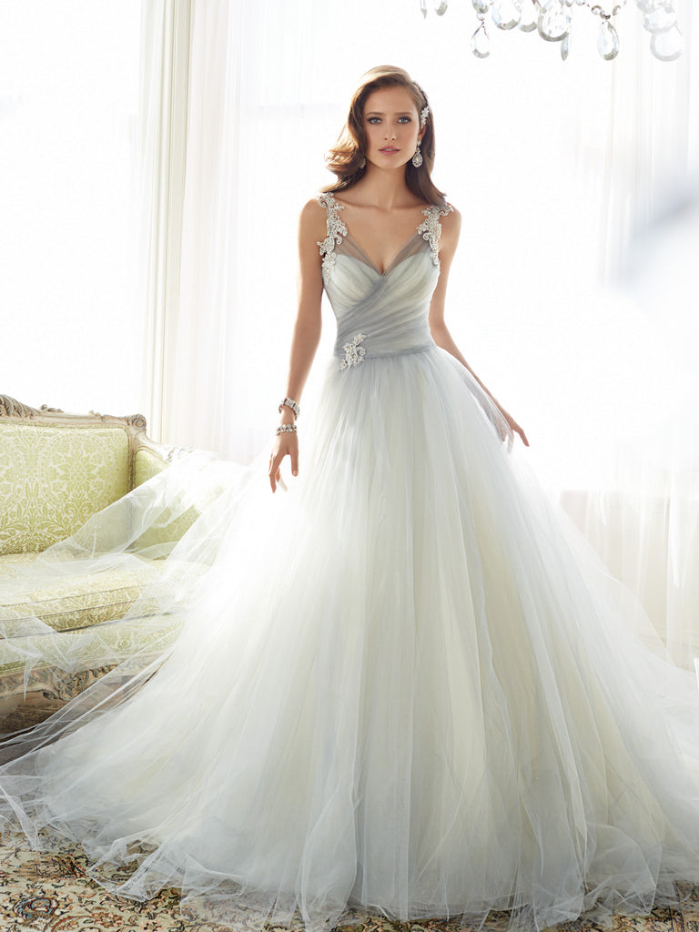 Gray Mist Soft Tulle Wedding Dress