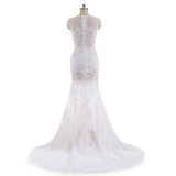 The Ziza Boho Sexy Lace Illusion Wedding Dress