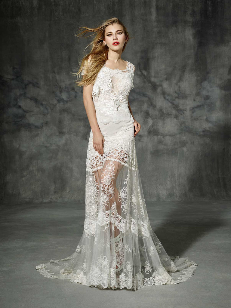 Inspired by Yolan Cris Couture Bridal – Aragon Replica ::  Very Limited Availability
