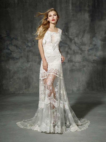 Inspired by Yolan Cris Couture Bridal – Aragon Replica :: Use Code: BOHO200 for $200 Off & Free US Shipping!