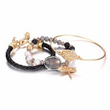 Boho Multi Layer Dragonfly Bangle Bracelet Set