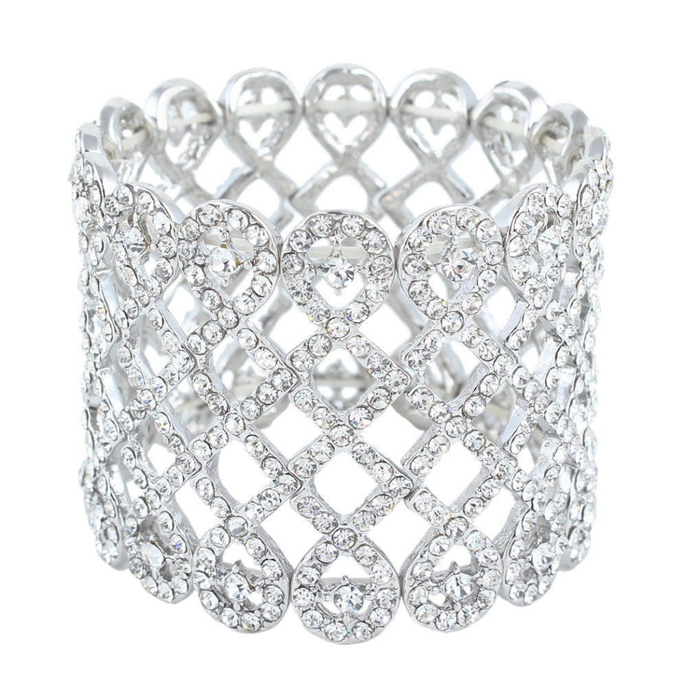 Criss Cross Crystal Bridal Bracelet