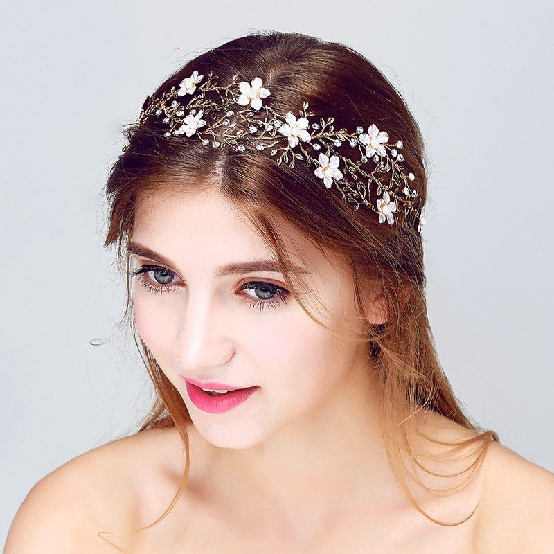 Crystal Floral Vines Head piece
