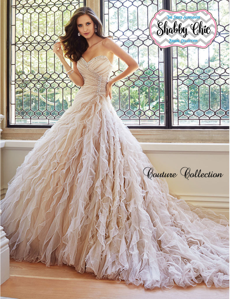 Shabby Chic Couture Collection - Frothy Tulle Sweetheart Gown