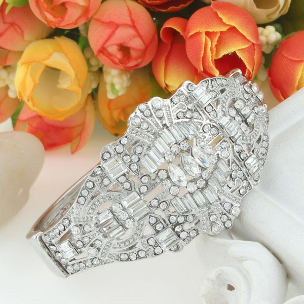 Great Gatsby Inspired CZ Bridal Bracelet