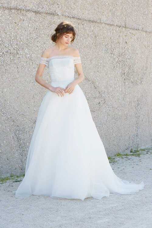 Inspired by the Amsale Nara Hand Beaded Organza Ball Gown