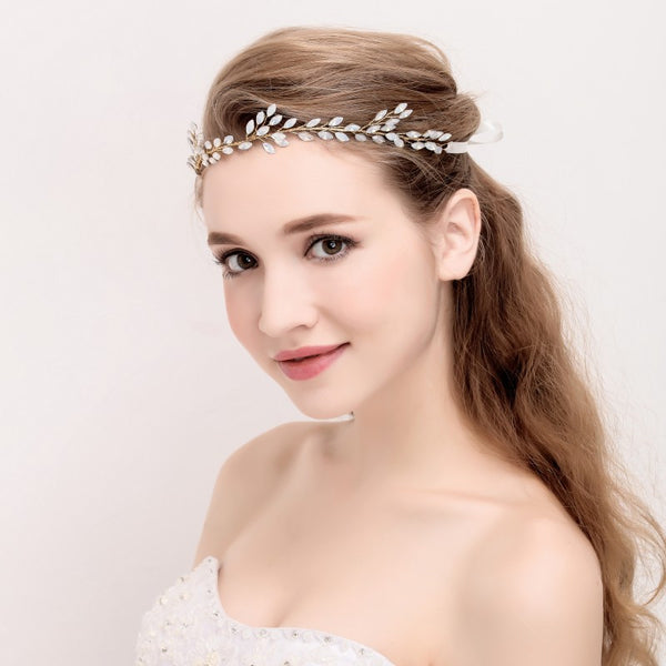 Opal Bridal  Head piece