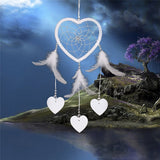 Vintage Style Hearts & Feathers Wedding Dream Catcher