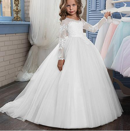 New Puffy Tulle & Lace Ball Gown Style Flower Girl Dress