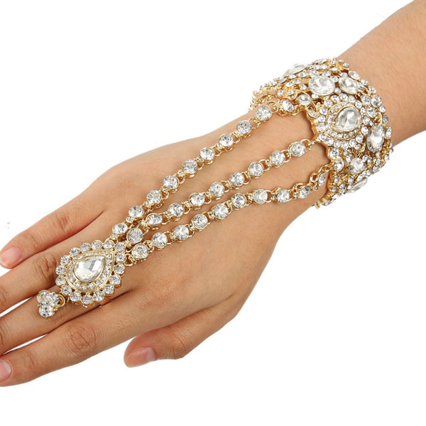 Exquisite Bohemian Crystal Ring Bracelet Combo
