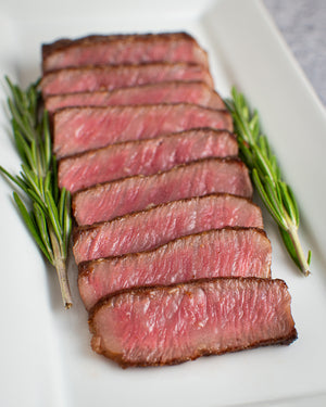 Wagyu New York Strip (Marble Score: 9+)