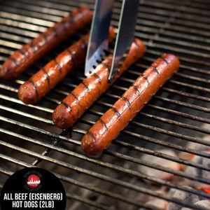 (2lb) - ALL BEEF HOT DOGS (1/4lb PER DOG)
