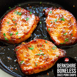 (6oz) BONELESS BERKSHIRE PORK CHOPS (2 Per Pack)
