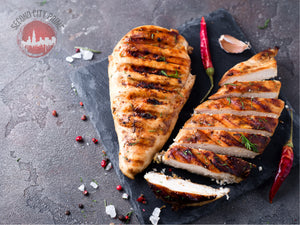 Amish Marinated Boneless Garlic and Pepper Chicken Breasts - Second City Prime